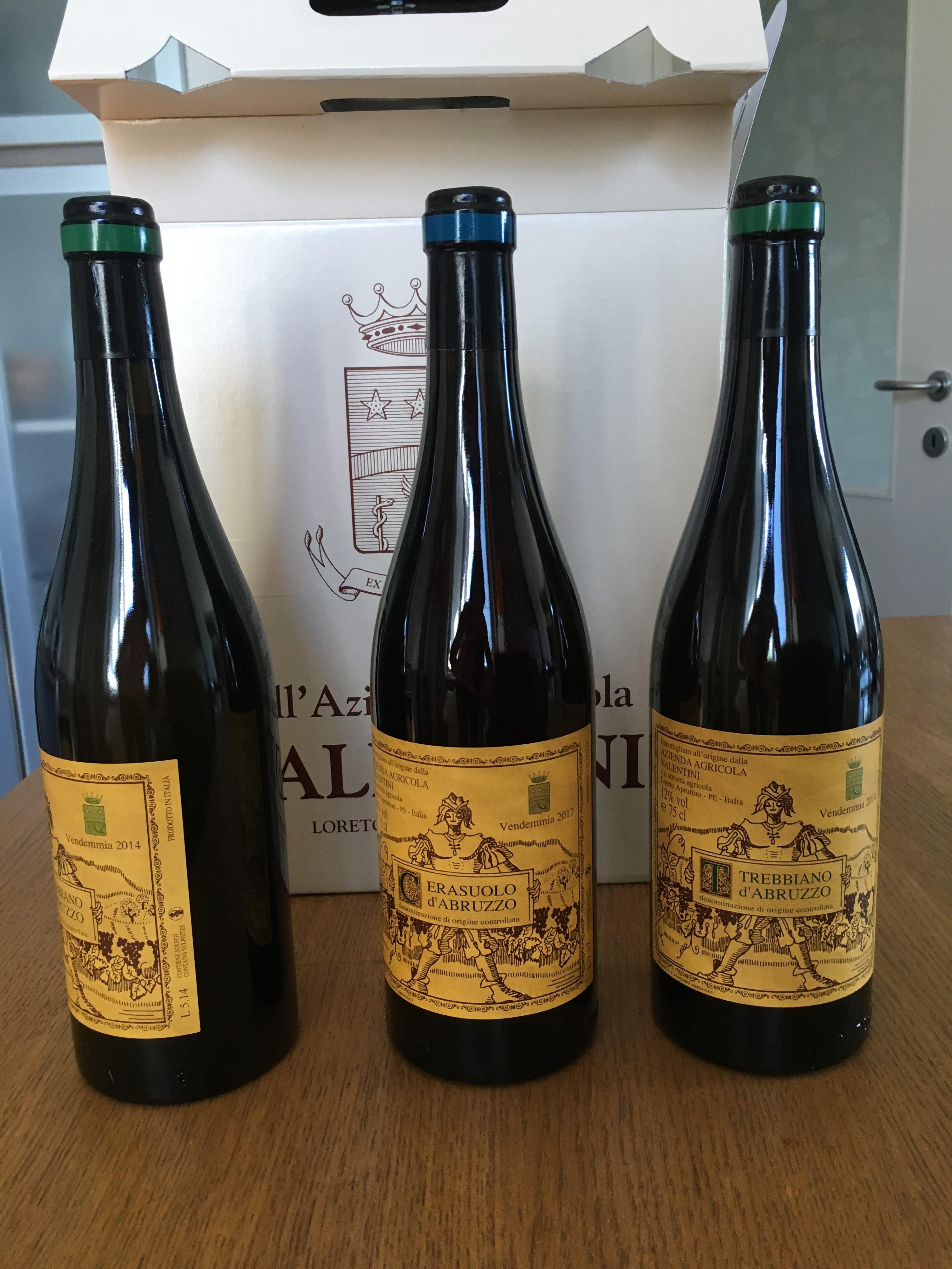 Valentini winery in Abruzzo: Montepulciano, Trebbiano