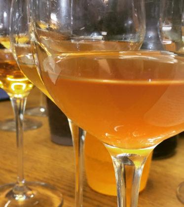 orange wine blind tasting